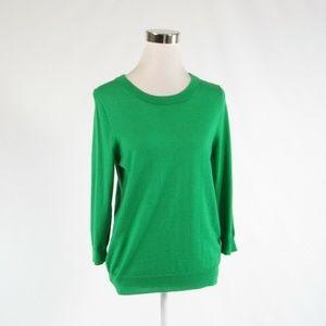 Green J. CREW crewneck sweater M